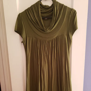 Elegant Olive Green Dress